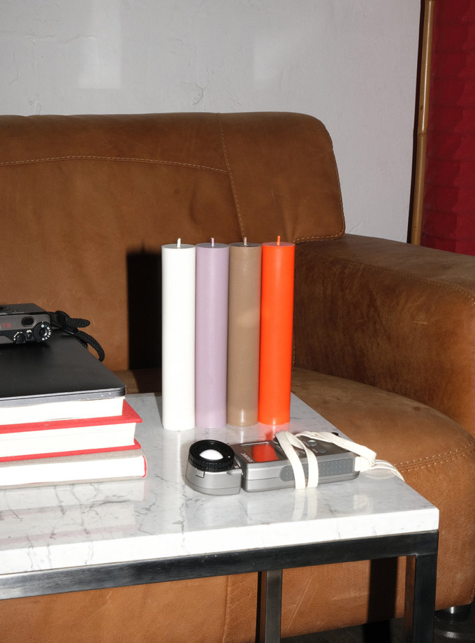 Набор ORANGE CANDLES SET PILLAR SB_PL_ORN-4, фото 1 - в интернет магазине KAPSULA