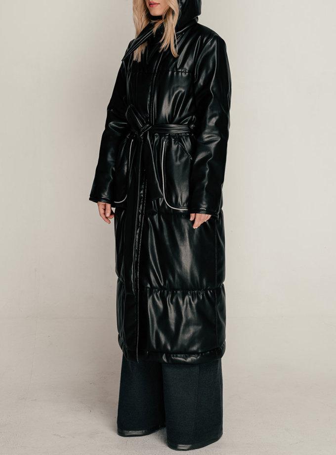 Пальто з еко-шкіри SE_SE21-Ct-Aquifo-B, фото 1 - в интернет магазине KAPSULA