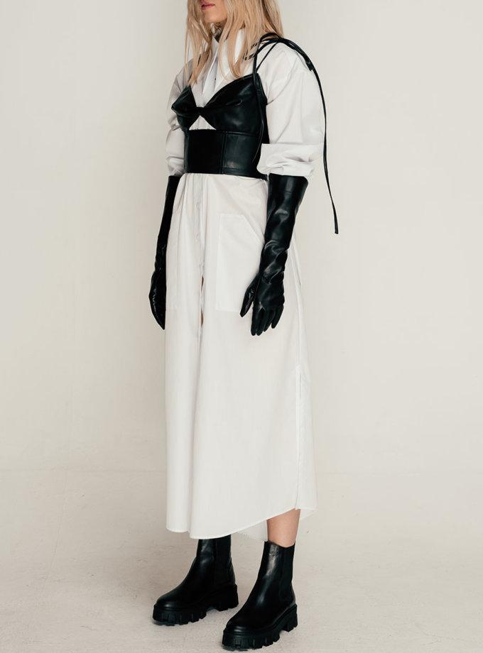 Хлопковое платье-рубашка макси SE_SE21-Dr-Celastra-W, фото 1 - в интернет магазине KAPSULA