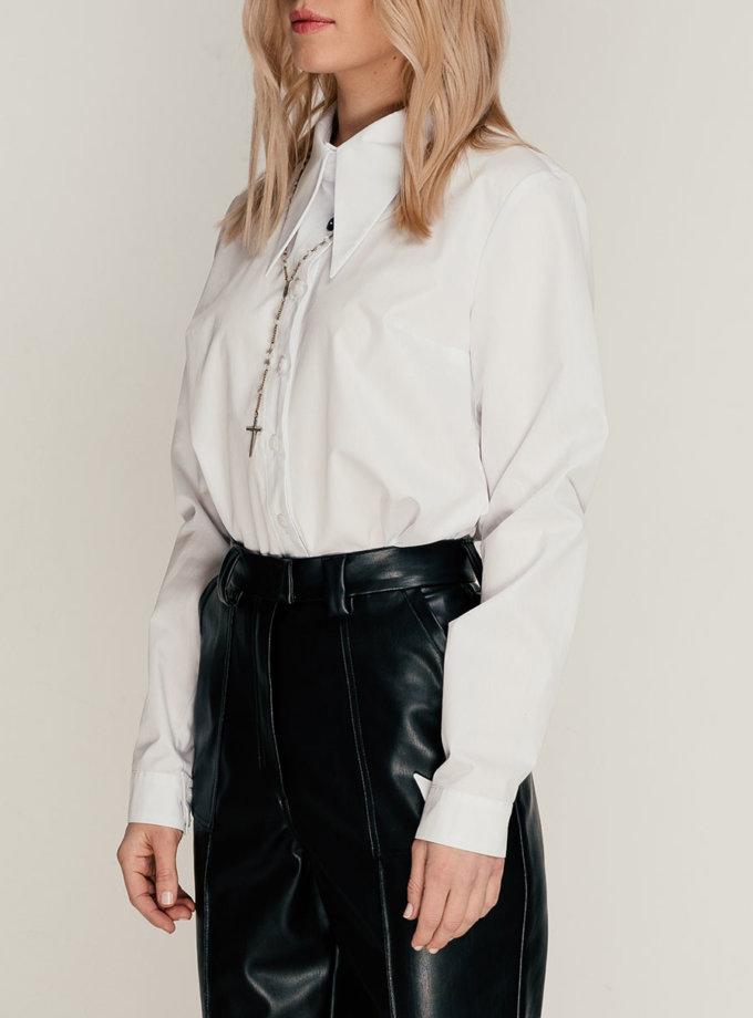 Хлопковая приталенная рубашка SE_SE21ShGunneW, фото 1 - в интернет магазине KAPSULA