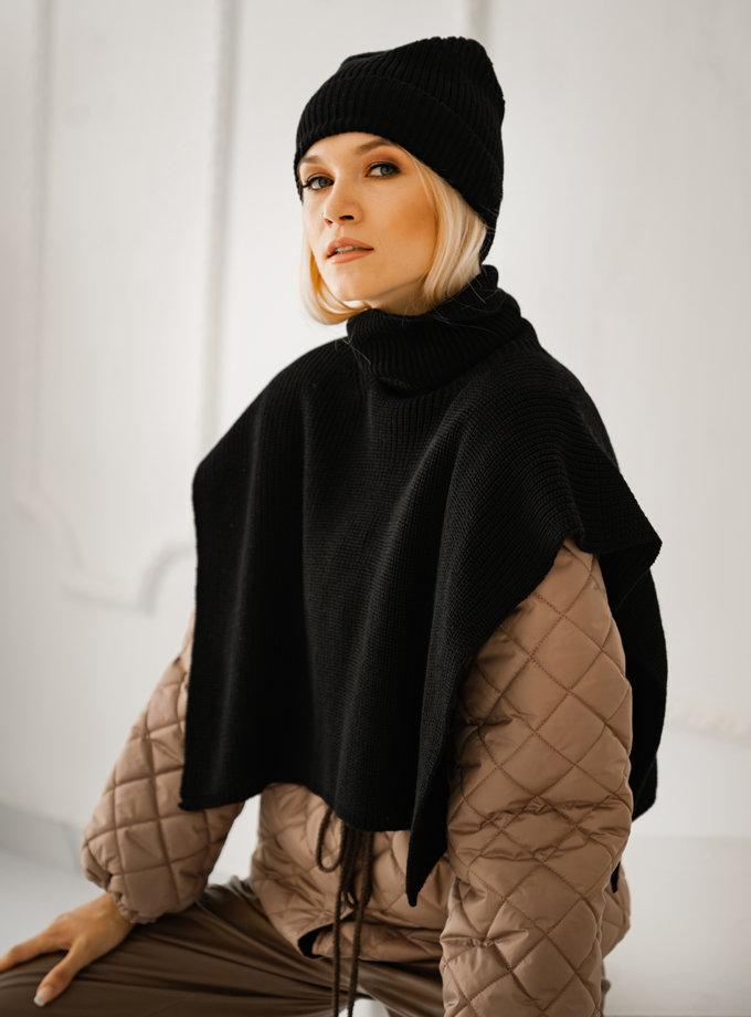 Хомут із шерсті мериноса SHE_collar_black, фото 1 - в интернет магазине KAPSULA
