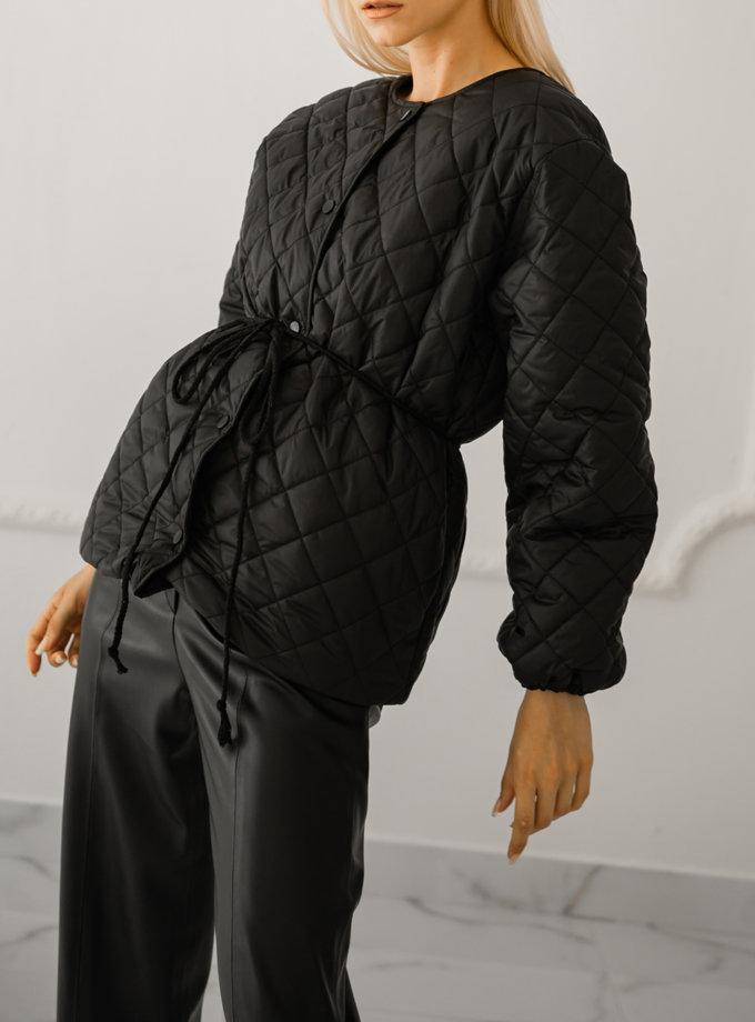 Стеганая куртка SHE_falljacket_black, фото 1 - в интернет магазине KAPSULA