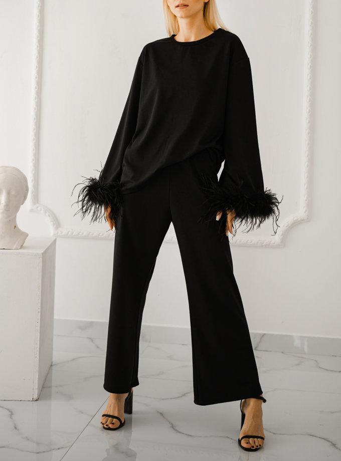 Костюм зі страусиним пір'ям SHE_suitfeathers_black, фото 1 - в интернет магазине KAPSULA