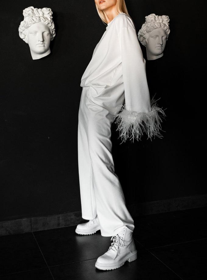 Костюм зі страусиним пір'ям SHE_suitfeathers_milk, фото 1 - в интернет магазине KAPSULA