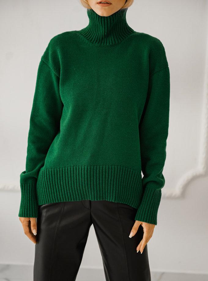 Светр із шерсті SHE_sweater_green, фото 1 - в интернет магазине KAPSULA