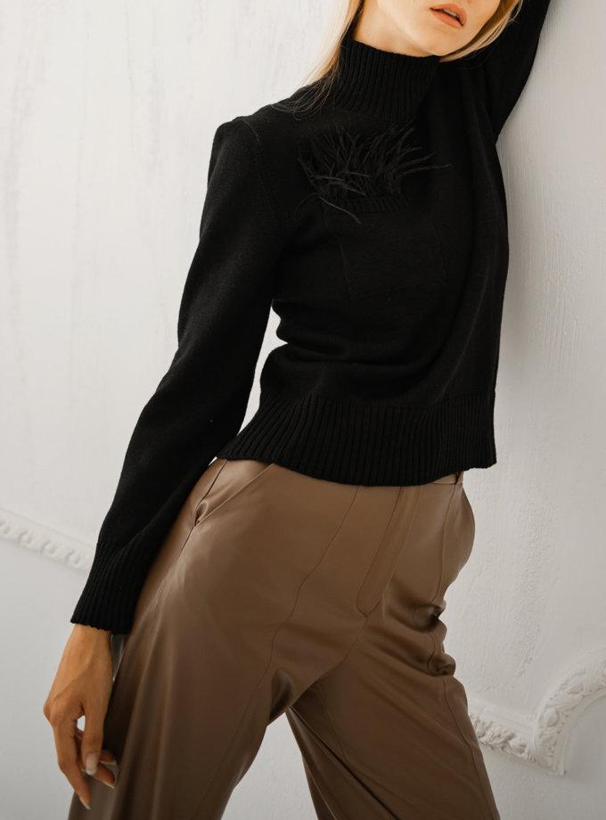Гольф из шерсти SHE_turtleneck_black, фото 1 - в интернет магазине KAPSULA