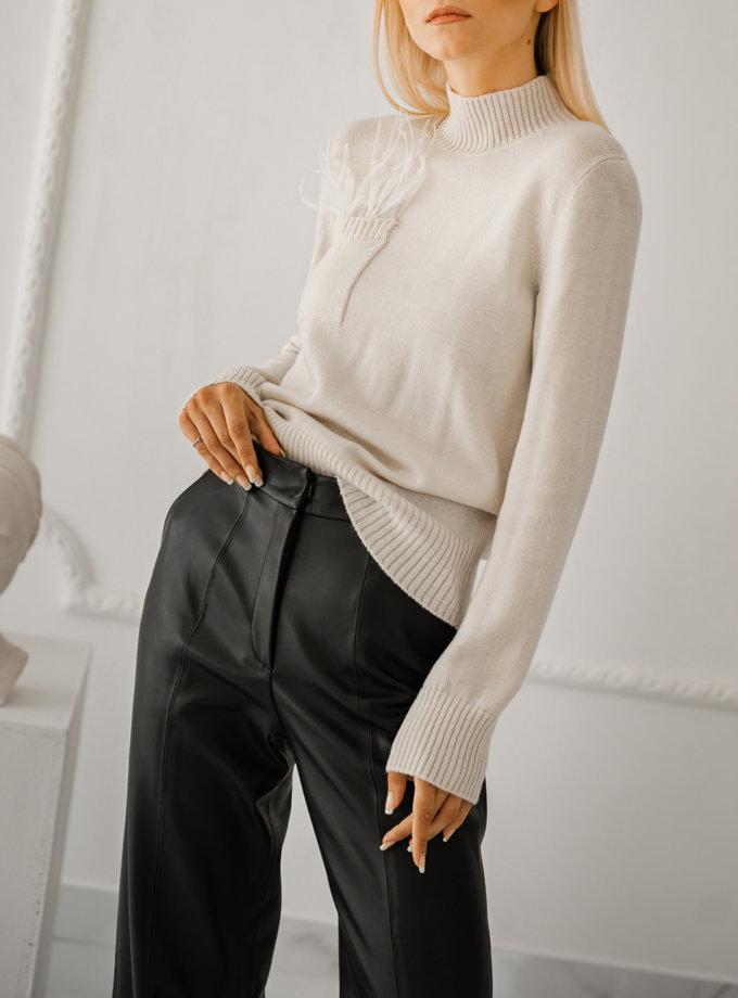 Гольф из шерсти SHE_turtleneck_milk, фото 1 - в интернет магазине KAPSULA