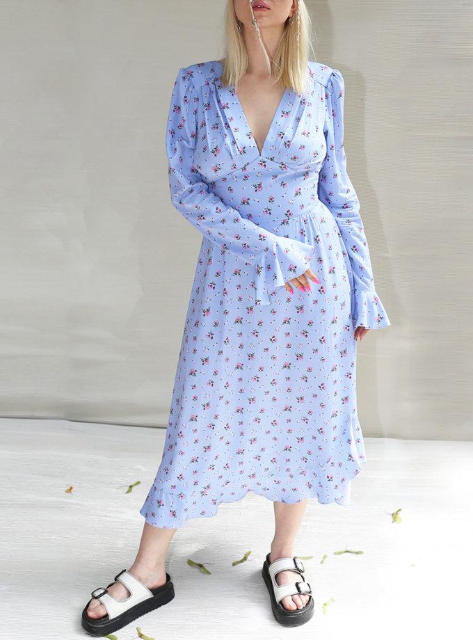 Хлопковое платье с открытой спиной VONA_SS-21-84, фото 1 - в интернет магазине KAPSULA
