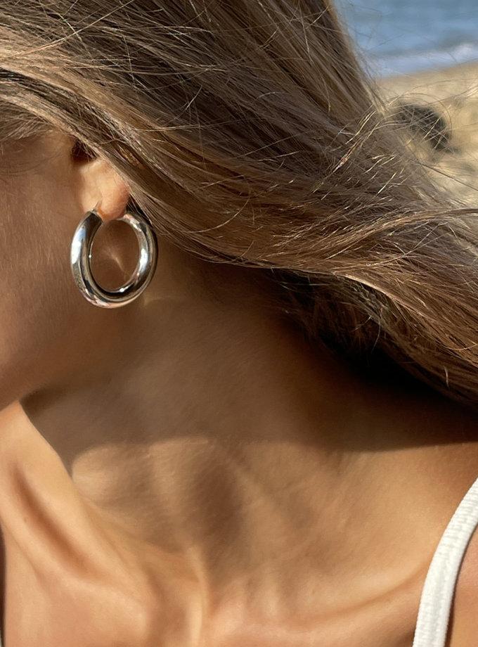 Серги кольца из серебра SLR_SSER_001, фото 1 - в интернет магазине KAPSULA