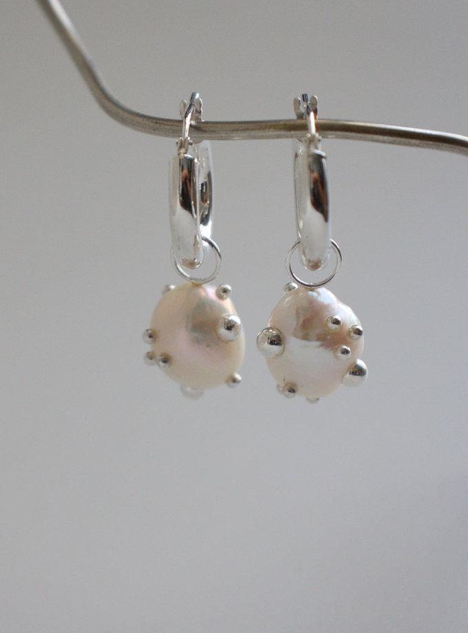 Сережки кільця з перлинами SLR_SSER_002, фото 1 - в интернет магазине KAPSULA