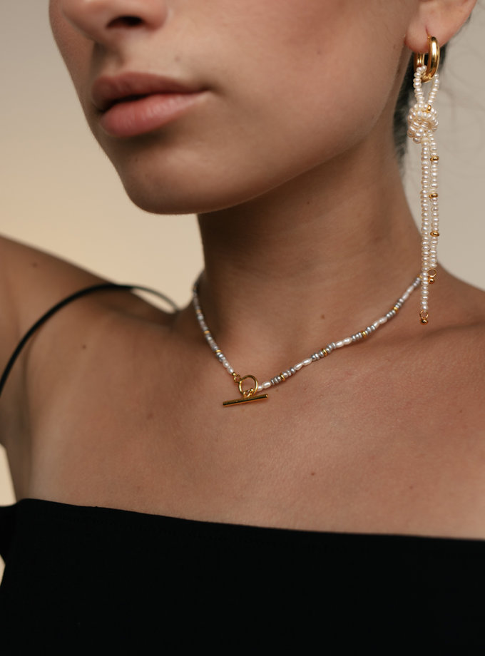 Асиметричні сережки кільця Вузол SLR_SSER_006, фото 1 - в интернет магазине KAPSULA
