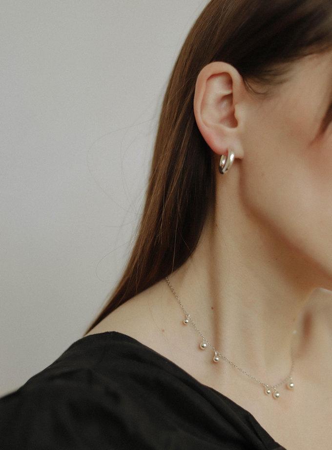 Сережки кільця SLR_SSER_007, фото 1 - в интернет магазине KAPSULA