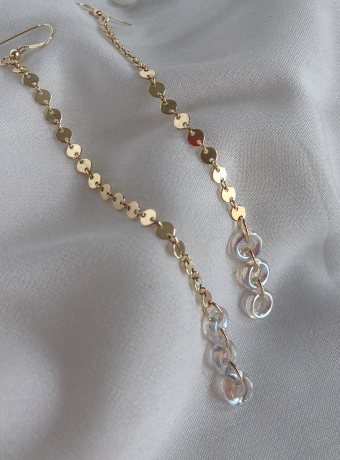 Довгі сережки з скляними донатами SLR_SSER_008, фото 1 - в интернет магазине KAPSULA