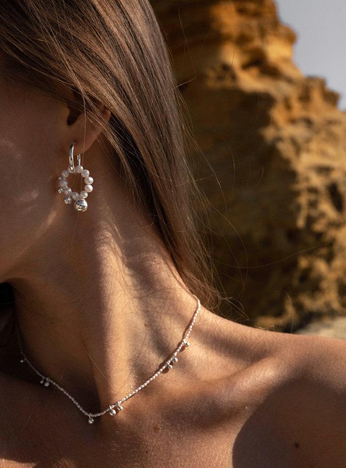 Сережки з підвісами з перлів SLR_SSER_009, фото 1 - в интернет магазине KAPSULA