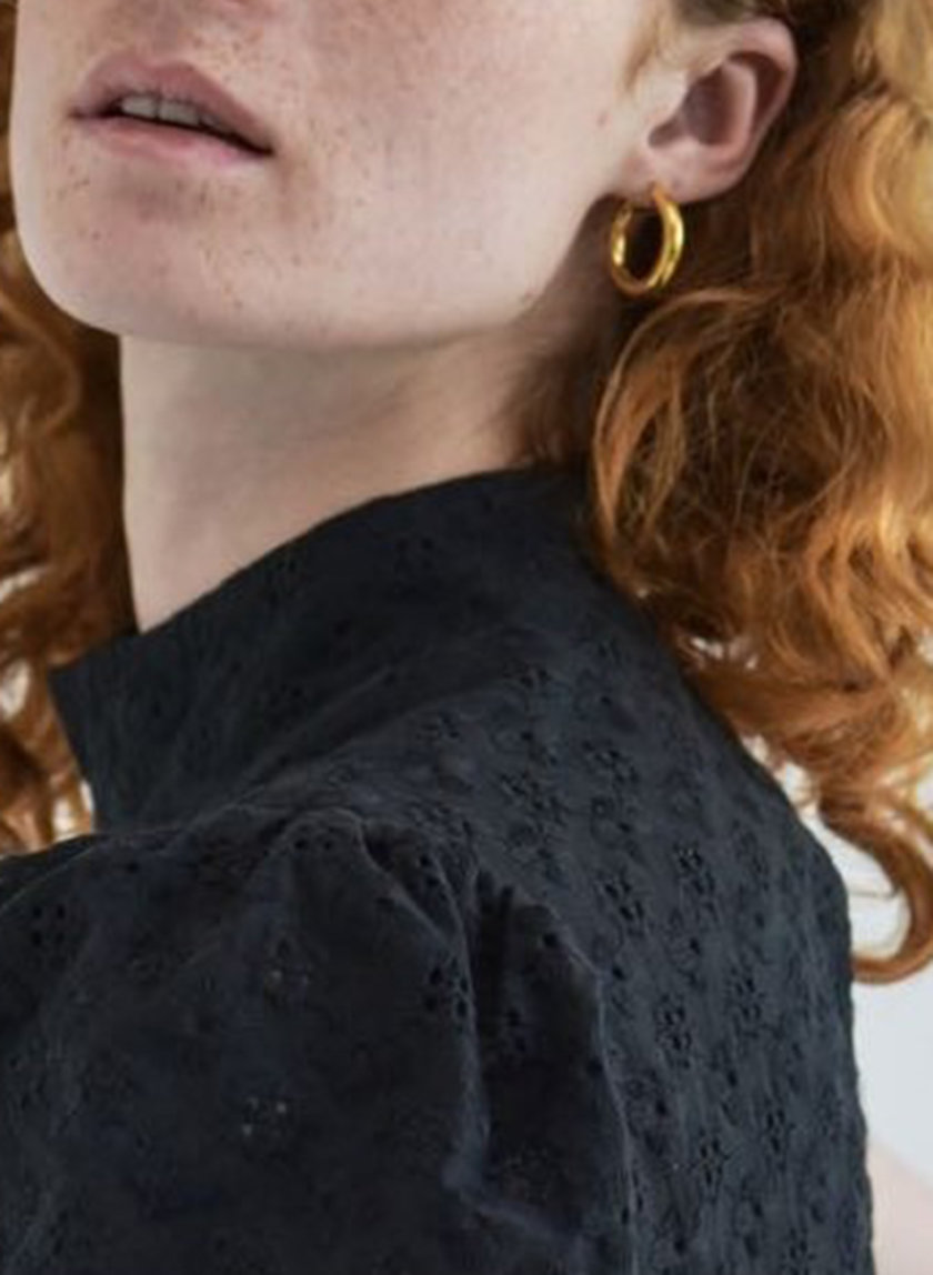 Серьги кольца SLR_SSER_013, фото 1 - в интернет магазине KAPSULA