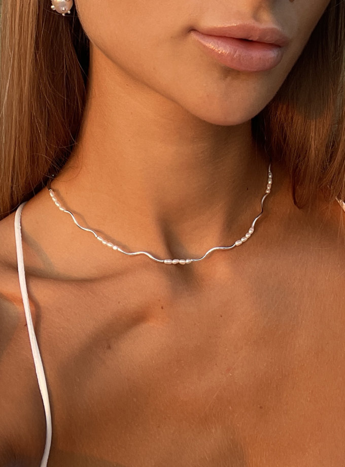 Чокер зі срібла SLR_SSN_004, фото 1 - в интернет магазине KAPSULA