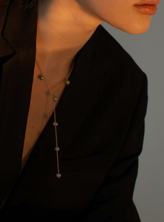 Кольє краватка з перлин SLR_SSN_013, фото 1 - в интернет магазине KAPSULA