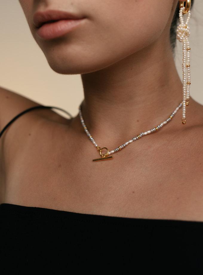 Чокер з перлин та застібкою тоггл SLR_SSN_016, фото 1 - в интернет магазине KAPSULA