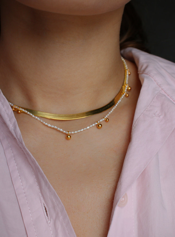 Чокер з перлин з дропсами SLR_SSN_018, фото 1 - в интернет магазине KAPSULA