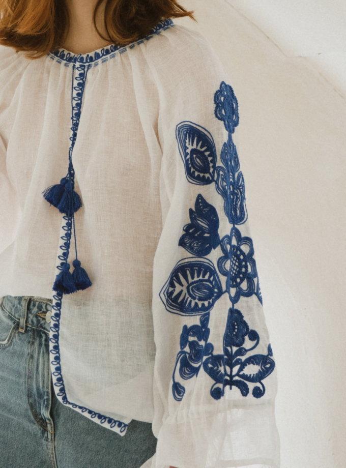 Рубашка из льна Дерево рода VF_UA-007026, фото 1 - в интернет магазине KAPSULA