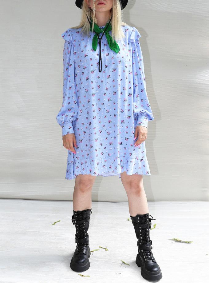 Платье мини из хлопка VONA_SS-21-66, фото 1 - в интернет магазине KAPSULA