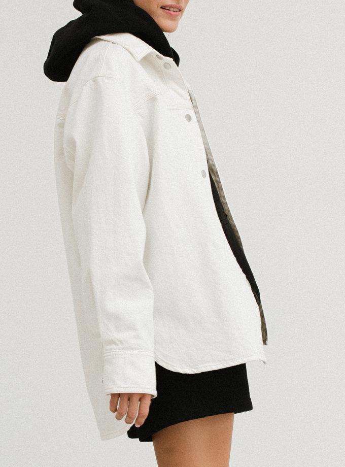 Куртка-сорочка з прорізами AIS_AIS_D133WT, фото 1 - в интернет магазине KAPSULA