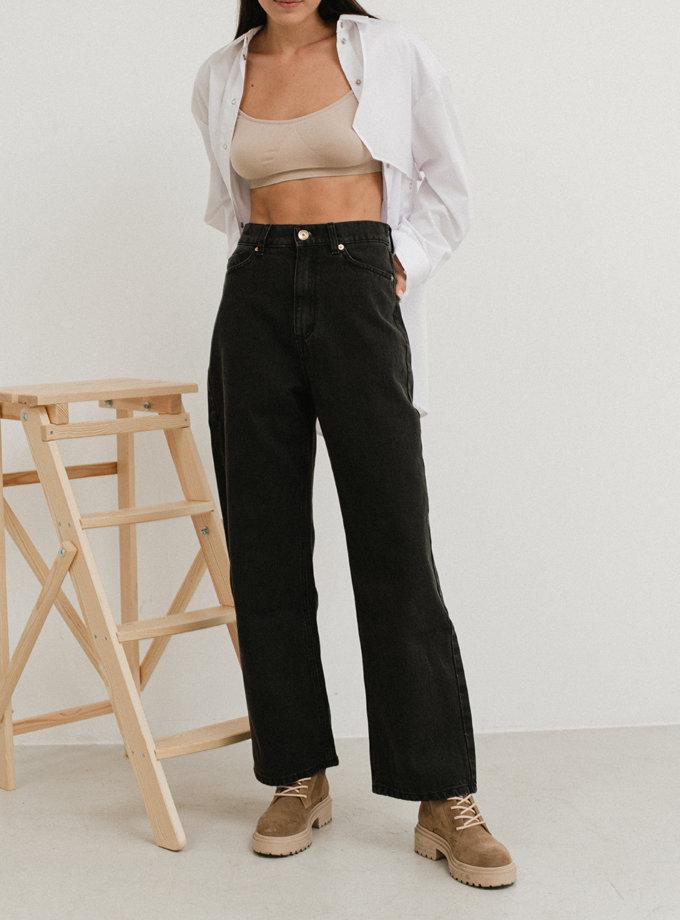 Укорочені джинси прямого крою AIS_D66UB, фото 1 - в интернет магазине KAPSULA