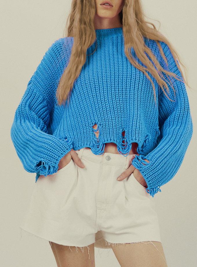 Джемпер one size KNIT_30001-blue, фото 1 - в интернет магазине KAPSULA