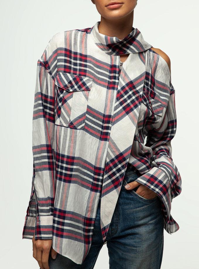 Рубашка с вырезом на плече IAM_02ctn0109kl, фото 1 - в интернет магазине KAPSULA