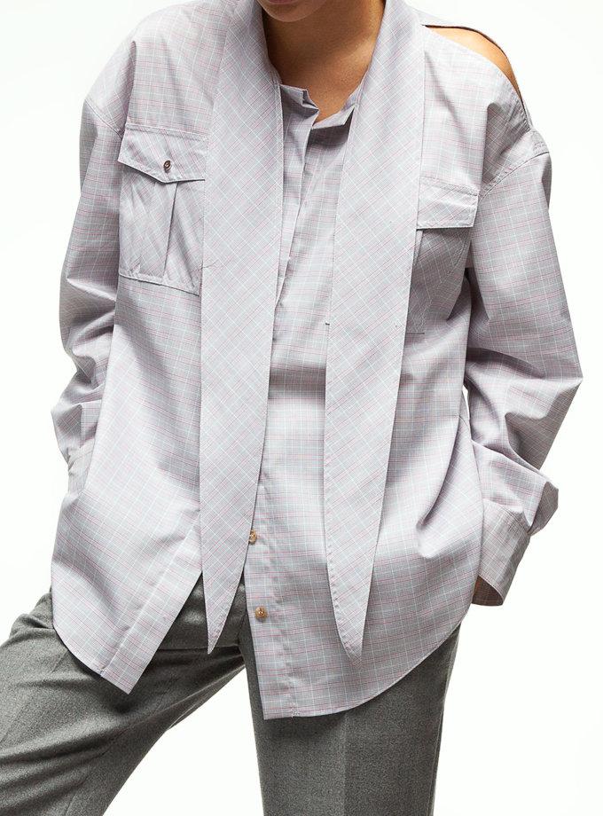 Рубашка с вырезом на плече IAM_02ctn04kl, фото 1 - в интернет магазине KAPSULA