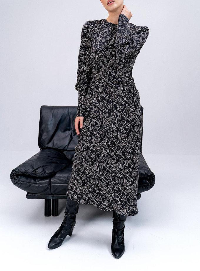 Сукня Frida з рукавами-ліхтариками MC_MY0122-black, фото 1 - в интернет магазине KAPSULA