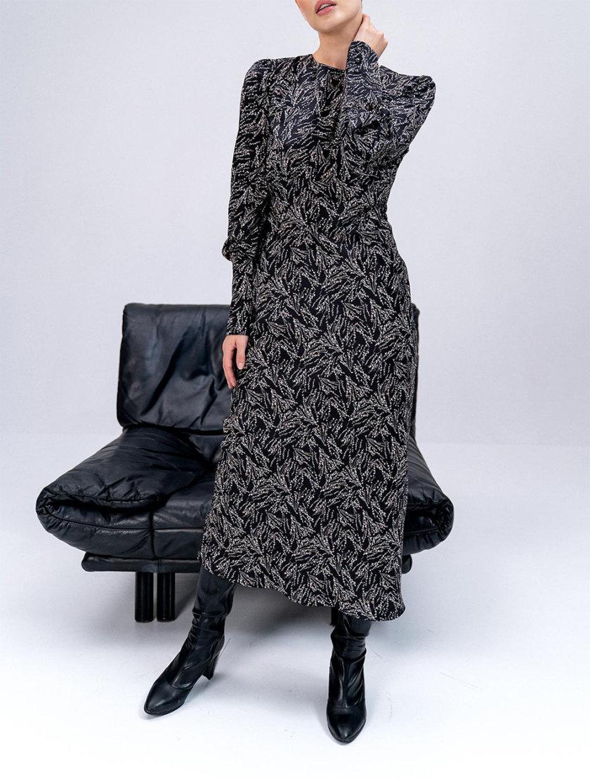 Платье Frida с рукавами-фонариками MC_MY0122-black, фото 1 - в интернет магазине KAPSULA