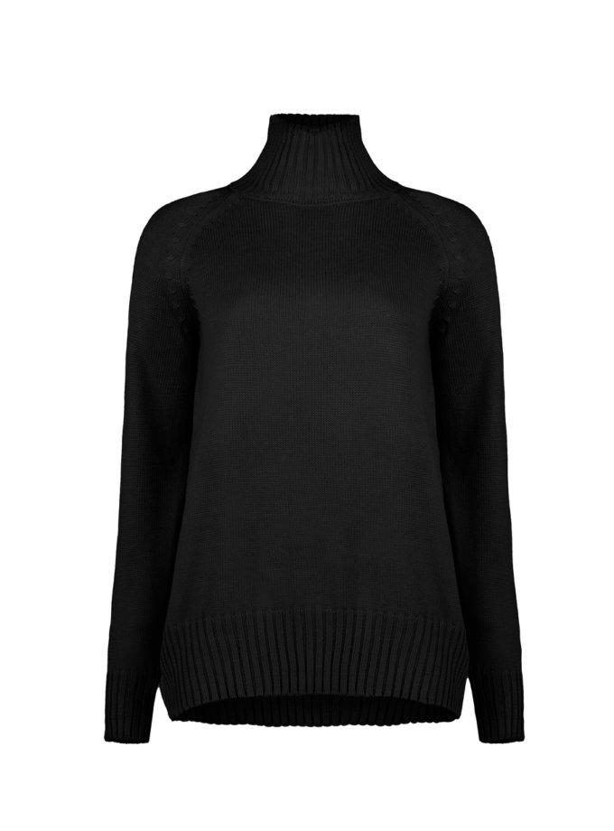 Джемпер ELLE black з вовни SYI_CS_18417-kapsula, фото 1 - в интернет магазине KAPSULA