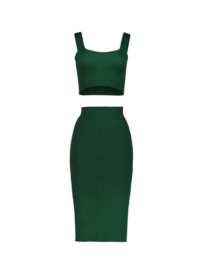 Хлопковая юбка Demi emerald SYI_CS_18401-kapsula, фото 1 - в интернет магазине KAPSULA