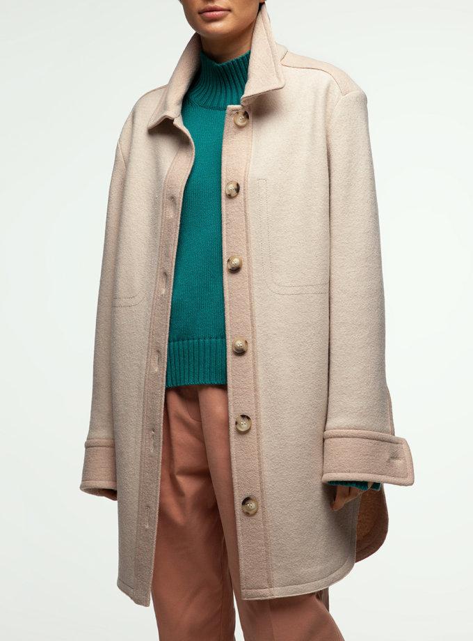 Пальто сорочка з вставками IAM_14wl06vst, фото 1 - в интернет магазине KAPSULA