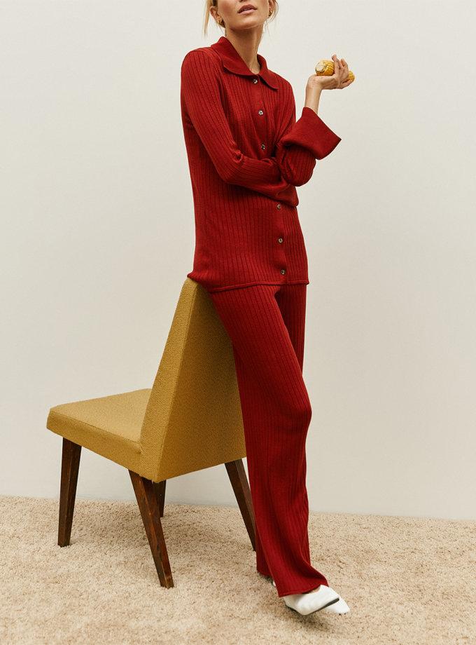Удлиненная рубашка Harper terracotta SYI_CS_18376-kapsula, фото 1 - в интернет магазине KAPSULA
