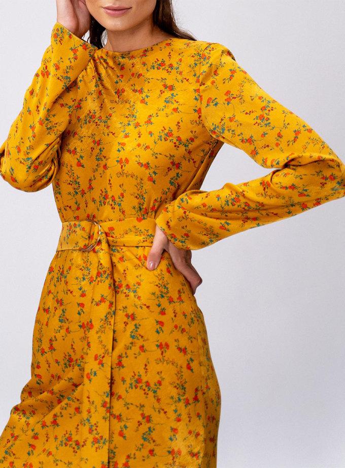 Сукня L Milano з поясом MC_MY0322-yellow, фото 1 - в интернет магазине KAPSULA