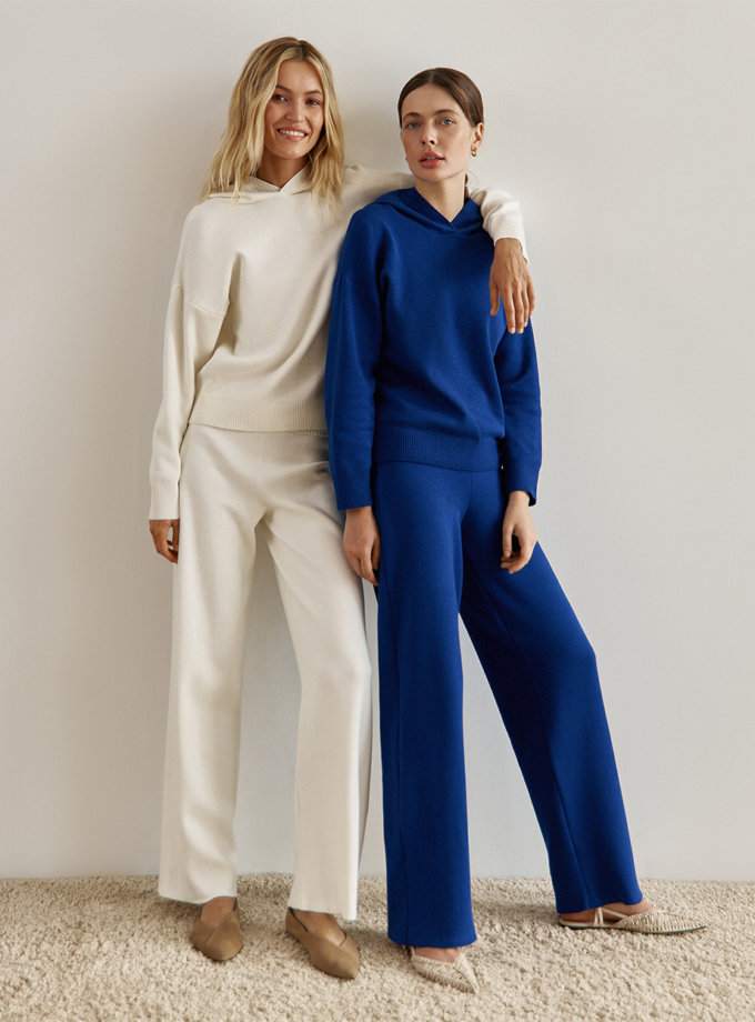 Хлопковые брюки blue SYI_CS_18393-kapsula, фото 1 - в интернет магазине KAPSULA