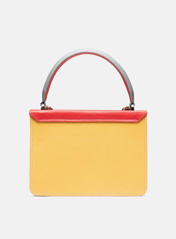 Кожаная сумка Boy Bag in Multicolor Ohra Red SNKD_P0078S, фото 1 - в интернет магазине KAPSULA