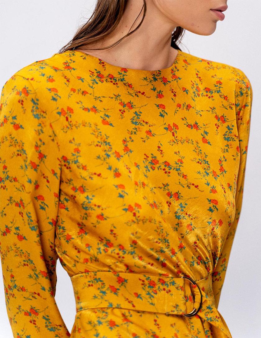 Платье L Milano с поясом MC_MY0322-yellow, фото 1 - в интернет магазине KAPSULA