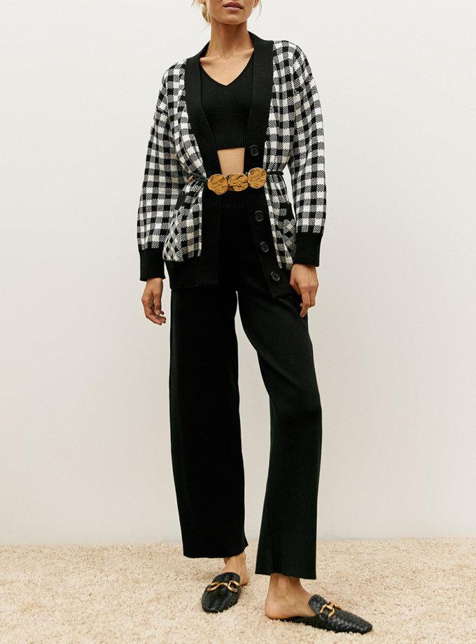 Хлопковые брюки black SYI_CS_18389-kapsula, фото 1 - в интернет магазине KAPSULA