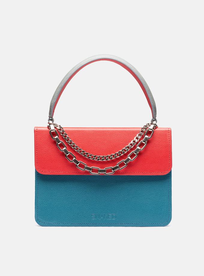 Кожаная сумка Boy Bag in Multicolor Blue and Red SNKD_P0079S, фото 1 - в интернет магазине KAPSULA