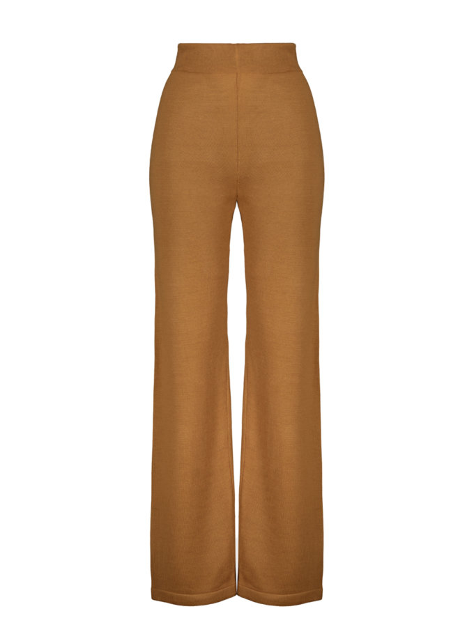 Шерстяные брюки ELLE caramel SYI_CS_18425-kapsula, фото 1 - в интернет магазине KAPSULA