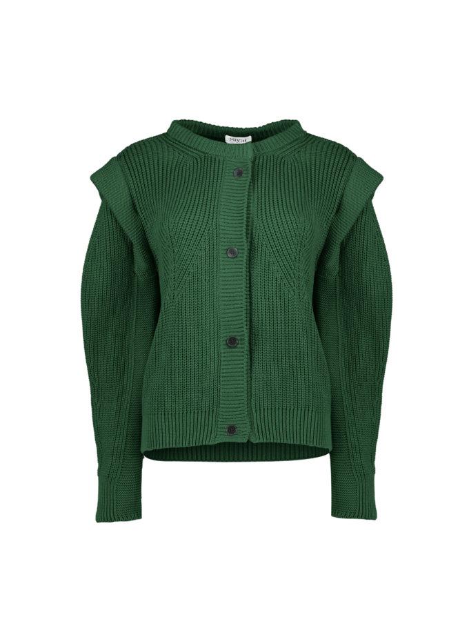 Хлопковый кардиган Demi emerald SYI_CS_18398-kapsula, фото 1 - в интернет магазине KAPSULA