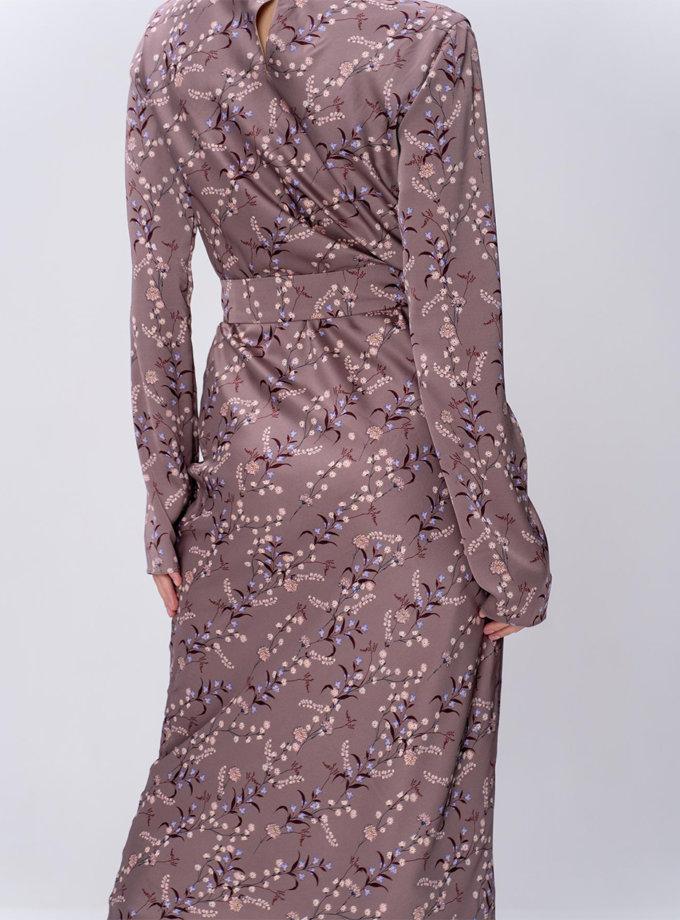 Сукня L Milano з поясом MC_MY0322-purple, фото 1 - в интернет магазине KAPSULA