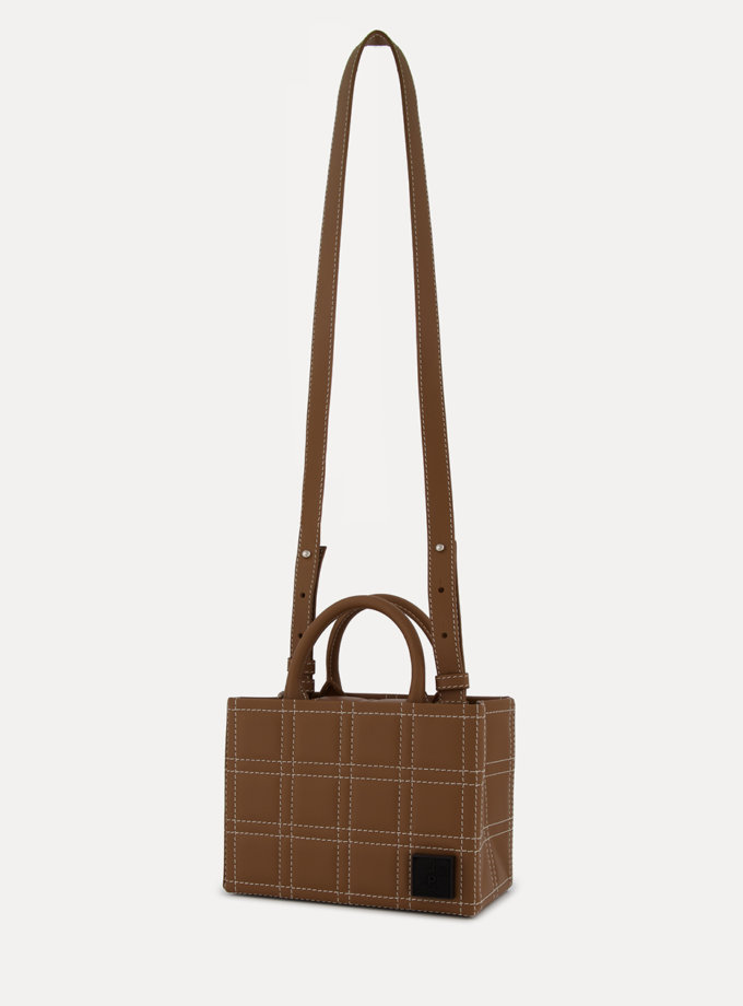 Шкіряна сумка 3x4 Bag in chocolate LPR_3-4-B, фото 1 - в интернет магазине KAPSULA