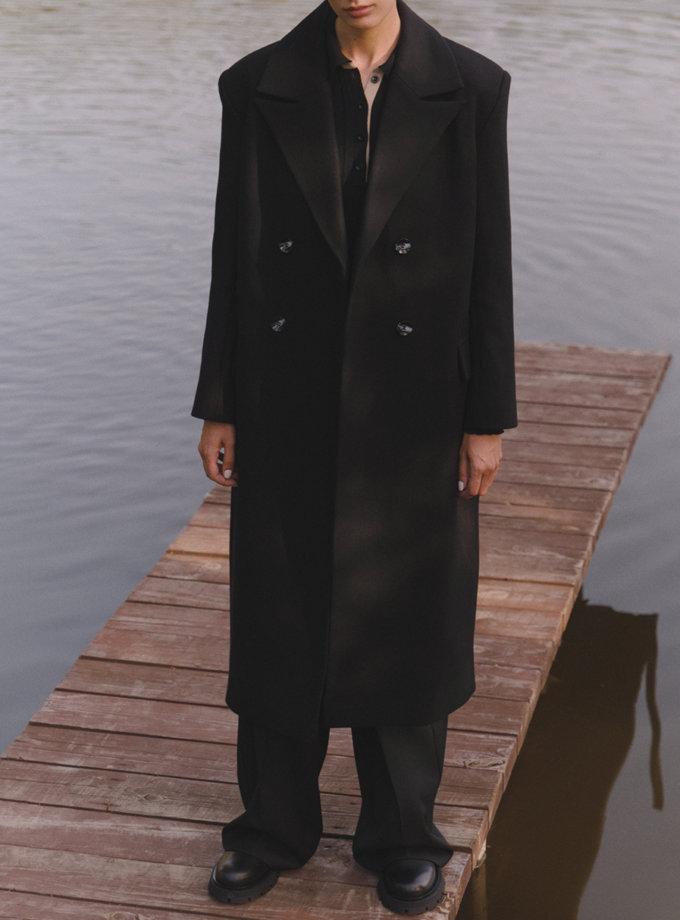 Двобортне пальто прямого силуету LAB_2201, фото 1 - в интернет магазине KAPSULA