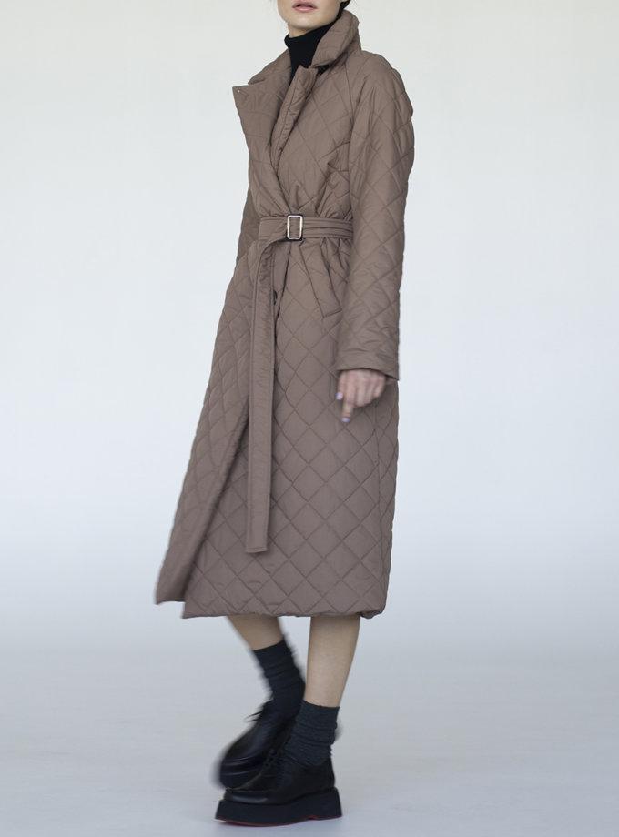 Пальто стьобане Vichy VVT_2453, фото 1 - в интернет магазине KAPSULA