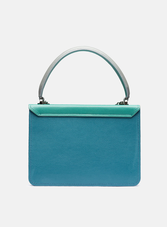 Кожаная сумка Boy Bag in Multicolor Blue and Green SNKD_P0080S, фото 1 - в интернет магазине KAPSULA