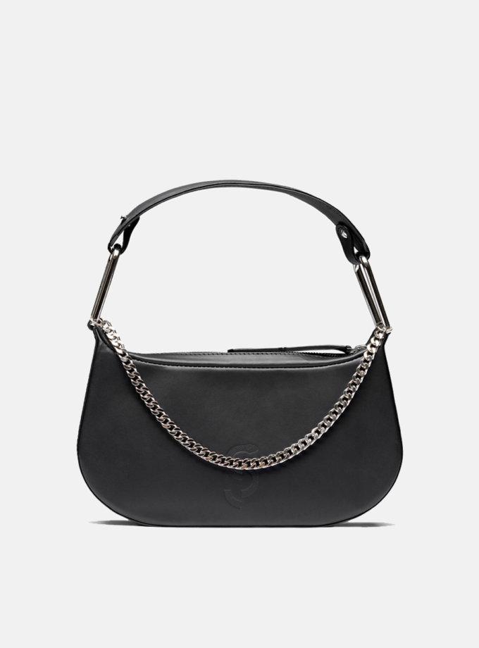 Кожаная сумка Saddle Bag in Black Matte SNKD_P0074S, фото 1 - в интернет магазине KAPSULA